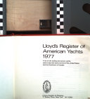 Lloyd s Register of American Yachts