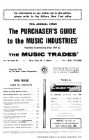 The Purchaser's Guide to the Music Industries