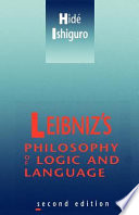 Leibniz's Philosophy of Logic and Language