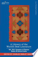 """""""A Library of the World's Best Literature"""" by Charles Dudley Warner"""