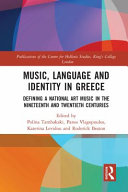 Music  Language and Identity in Greece