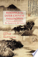 Readings In Later Chinese Philosophy