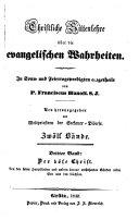 Christliche Sittenlehre über die evangelischen Wahrheiten: -4. Bd. Der böse Christ