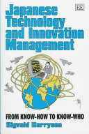 Japanese Technology And Innovation Management Book PDF