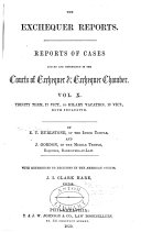 Courts of Exchequer and Exchequer Chamber
