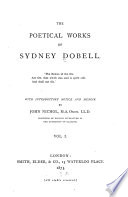 Memoir  The Roman  a dramatic poem  Miscellaneous poems  Sonnets on the war  the Crimean struggle  England in time of war Book