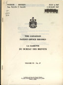 Pdf Canadian Patent Office Record