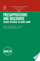 Presuppositions And Discourse Essays Offered To Hans Kamp