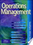 """""""Operations Management"""" by Mike Pycraft"""