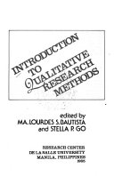 Introduction to Qualitative Research Methods Book PDF