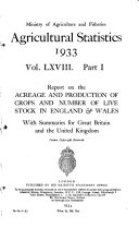 Agricultural Statistics  England and Wales