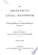 The Architect's Legal Handbook