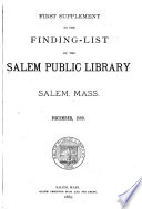 Finding-list of the Salem Public Library