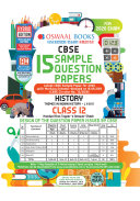 Oswaal CBSE Sample Question Papers for Class 12 History Book (For March 2020 Exam)