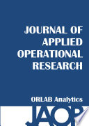 Journal Of Applied Operational Research Book PDF