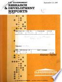 U S  Government Research   Development Reports