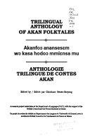 Anthologie Trilingue de Contes Akan