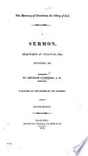 The Harmony of Christians  the Glory of God  A Sermon  Delivered at Sullivan  Me   September  1820     Second Edition Book