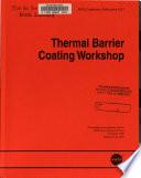 Thermal Barrier Coating Workshop