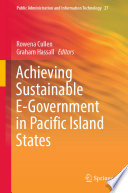 Achieving Sustainable E Government In Pacific Island States