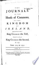 Journals of the House of Commons of the Kingdom of Ireland