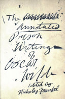 The Annotated Prison Writings of Oscar Wilde