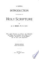 A General Introduction to the Study of Holy Scripture