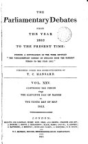 Pdf The Parliamentary Debates from the Year 1803 to the Present Time:: 11