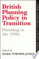 British Planning Policy In Transition