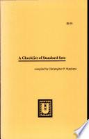 A Checklist of Standard Sets