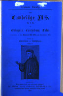 Pdf The Cambridge Ms. Dd. 4. 24. of Chaucer's Canterbury Tales, Completed by the Egerton Ms. 2726 (the Haistwell Ms.)