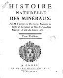 Histoire naturelle des minéraux. Par m. le comte de Buffon ... Tome premier \- 5!