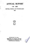 Annual Report of the Central Bureau of Investigation