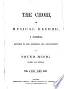 The Choir, and musical record