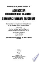 Proceedings of the Specialty Conference on Advances in Irrigation and Drainage