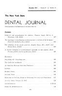 New York State Dental Journal Book