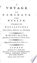 A Voyage to Ramsgate for health  interspersed with reflections natural  moral  and divine