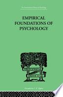 Empirical Foundations of Psychology