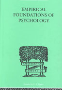 Empirical Foundations of Psychology ebook