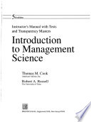 Sm Intro Management Science I/M and Tests