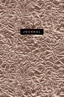 Journal  Luxury Rose Gold Notebook  120 Page Lined Sparkly Foil Effect