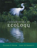 Fundamentals of Ecology Book