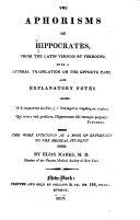 Pdf The Aphorisms of Hippocrates