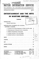 Pdf Entertainment and the Arts in Wartime Britain ...