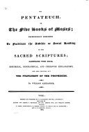 The Holy Bible     Principally Designed to Facilitate the Audible     Reading of the Sacred Scriptures  Illustrated with Notes     by William Alexander