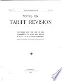 Notes on Tariff Revision