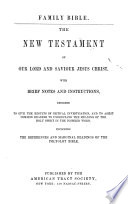 The Family Bible: The New Testament