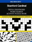 Stanford Cardinal Trivia Crossword Word Search Activity Puzzle Book
