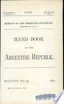 Hand Book of the Argentine Republic
