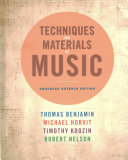 Techniques and Materials of Music Book